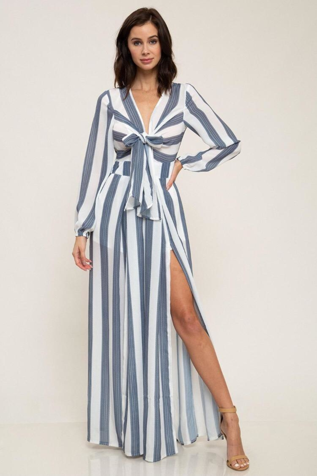 Latiste Navy Striped Jumpsuit From Los Angeles By Chikas Shoptiques