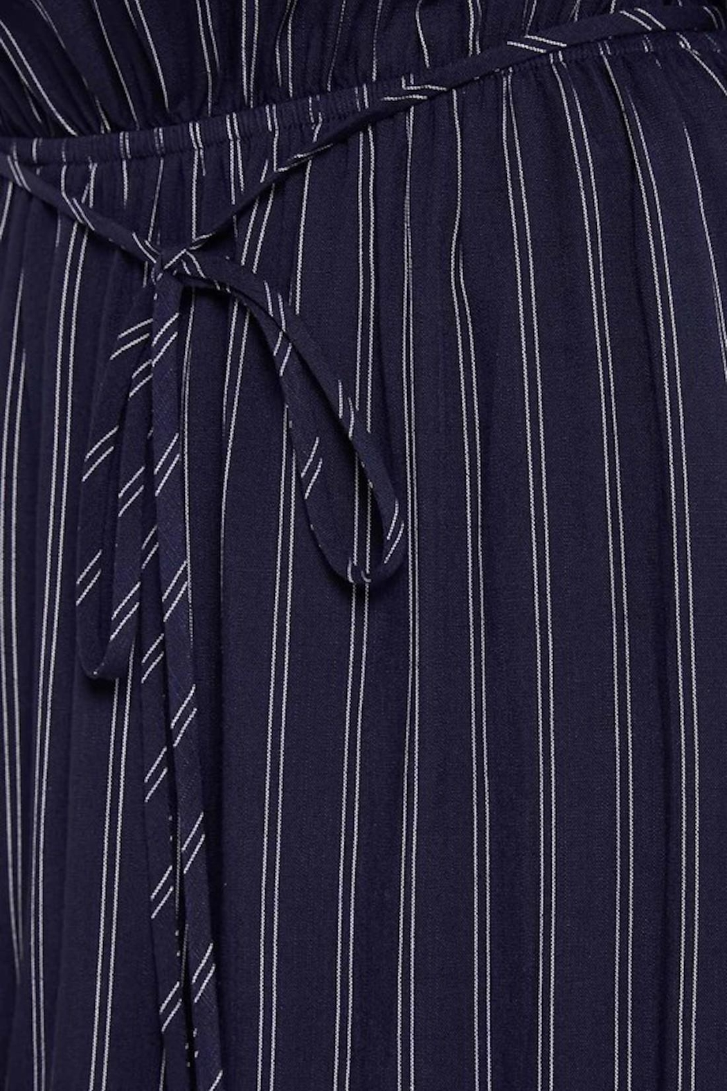 Soprano Navy Striped Maxi - Side Cropped Image