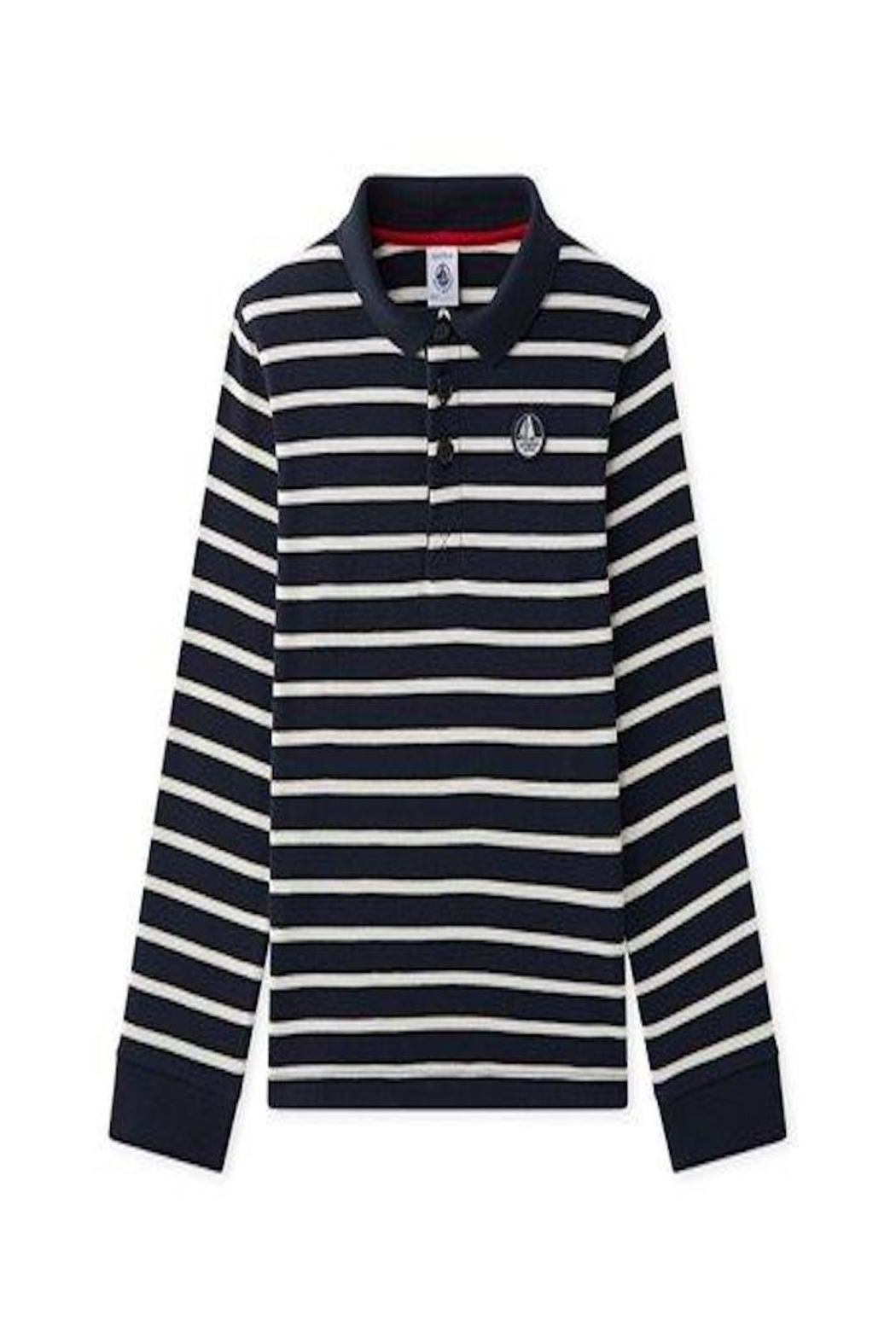 petit bateau Navy Striped Polo - Main Image