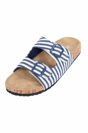 Tidewater Sandals Navy Striped Sandal - Product Mini Image