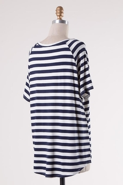 Double Zero Navy Stripes Comfy-Tee - Alternate List Image