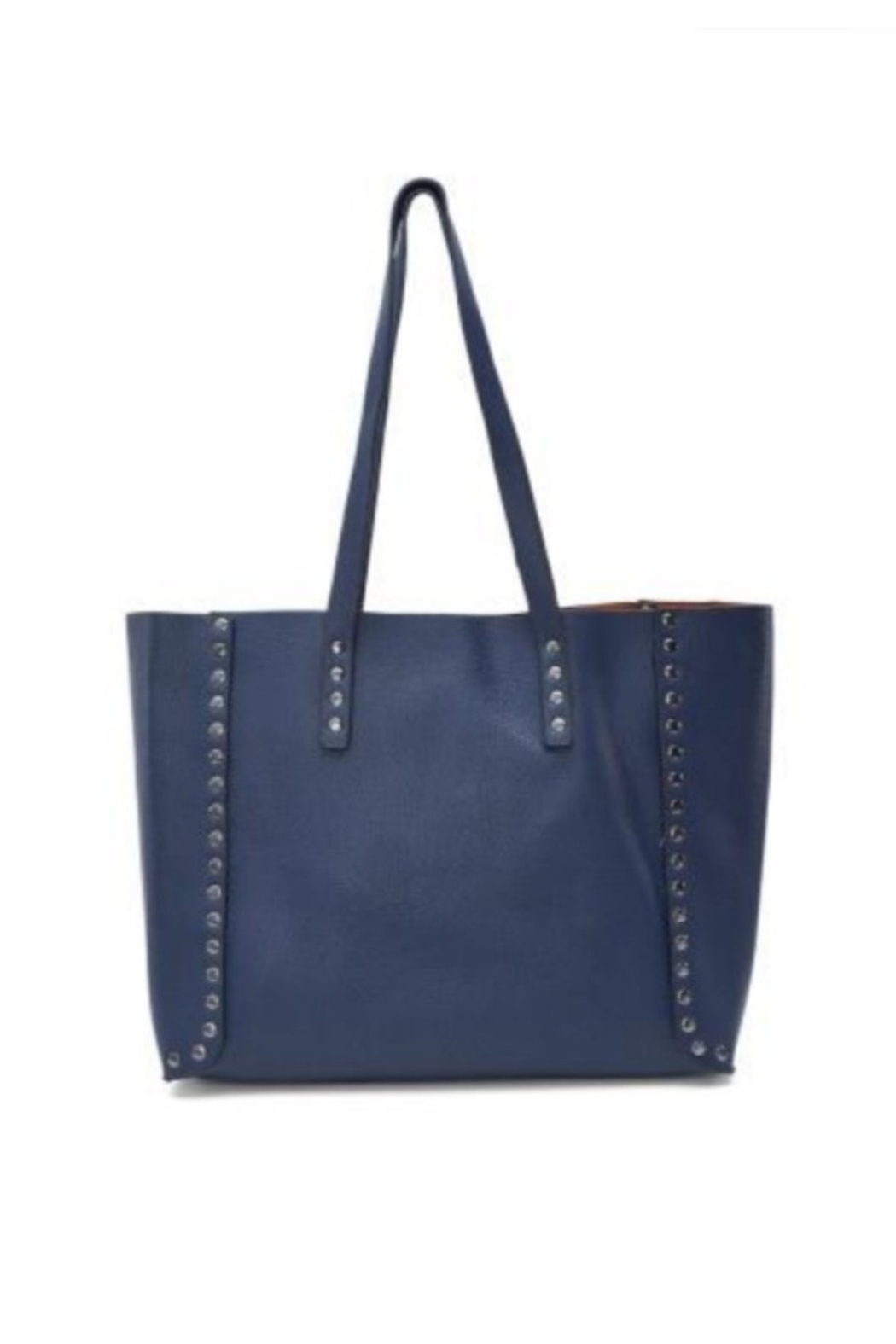 Allie & Chica Navy Studded Reversible Tote - Main Image