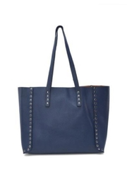 Allie & Chica Navy Studded Reversible Tote - Front cropped