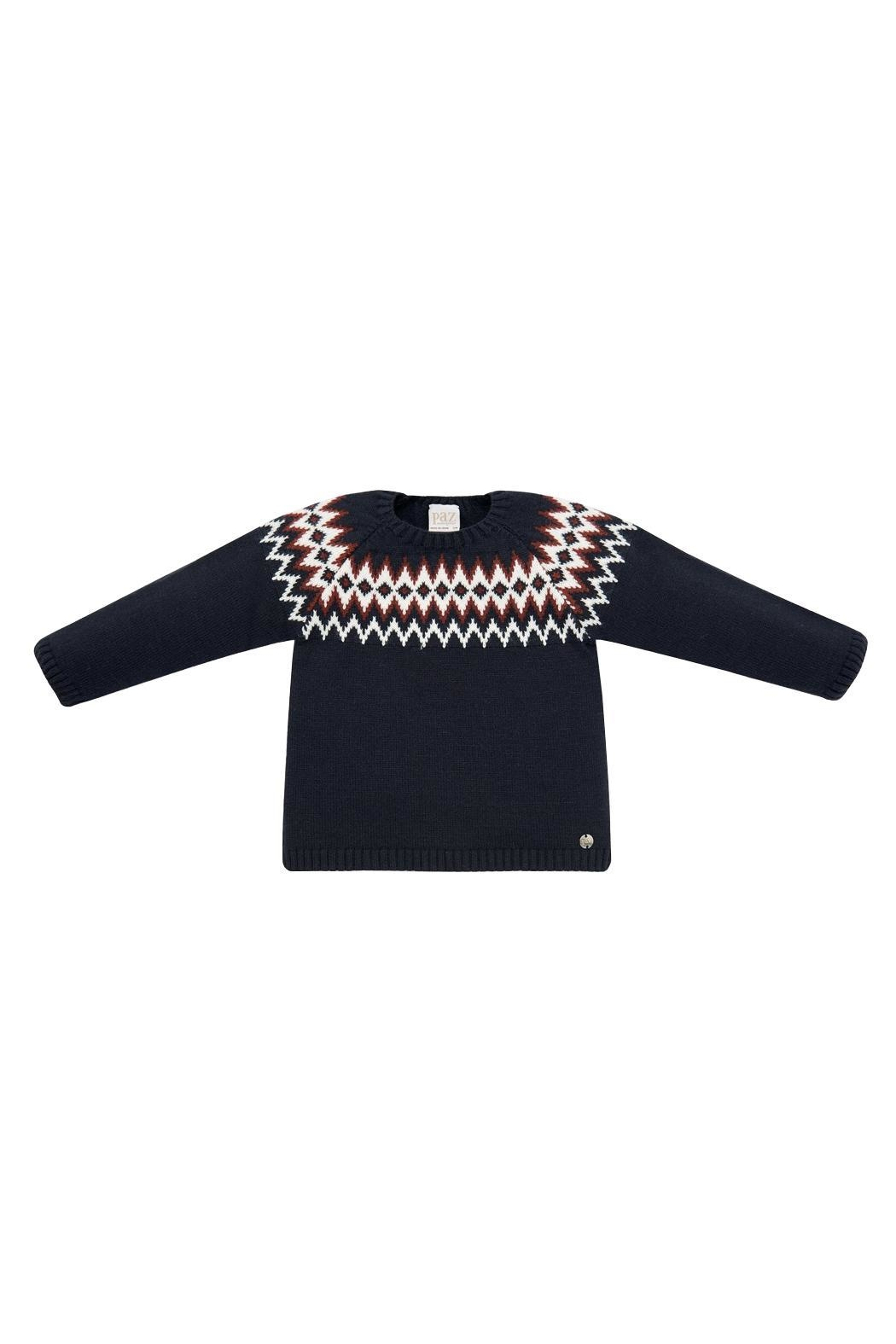 Paz Rodriguez Navy Sweater - Main Image