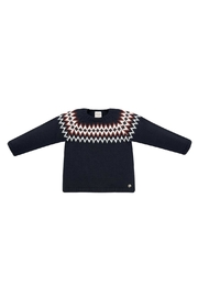 Paz Rodriguez Navy Sweater - Front cropped