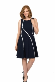 Scapa Navy Swirl Dress - Product Mini Image