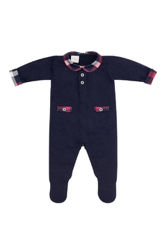 Shoptiques Product: Navy Tartan Sleepsuit.