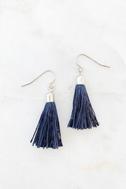Wild Lilies Jewelry  Navy Tassel Earrings - Product Mini Image