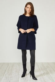 Urban Touch Navy Texturedsmart Coatjacket - Product Mini Image