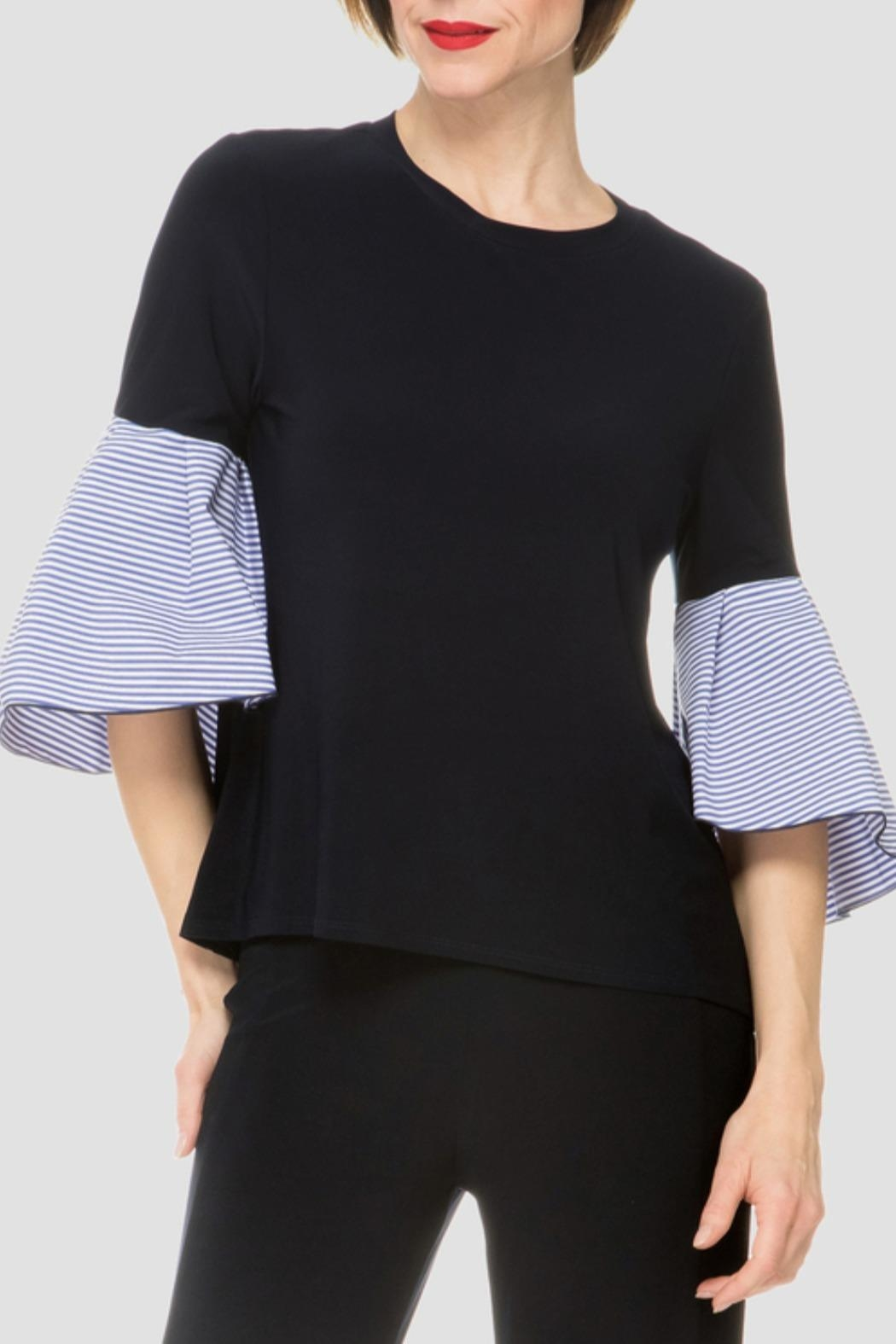 Joseph Ribkoff Navy Top - Front Cropped Image