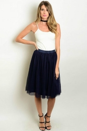 Humanity Navy Tulle Skirt - Product Mini Image