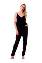 Love Tree Navy V-Neck Jumpsuit - Product Mini Image