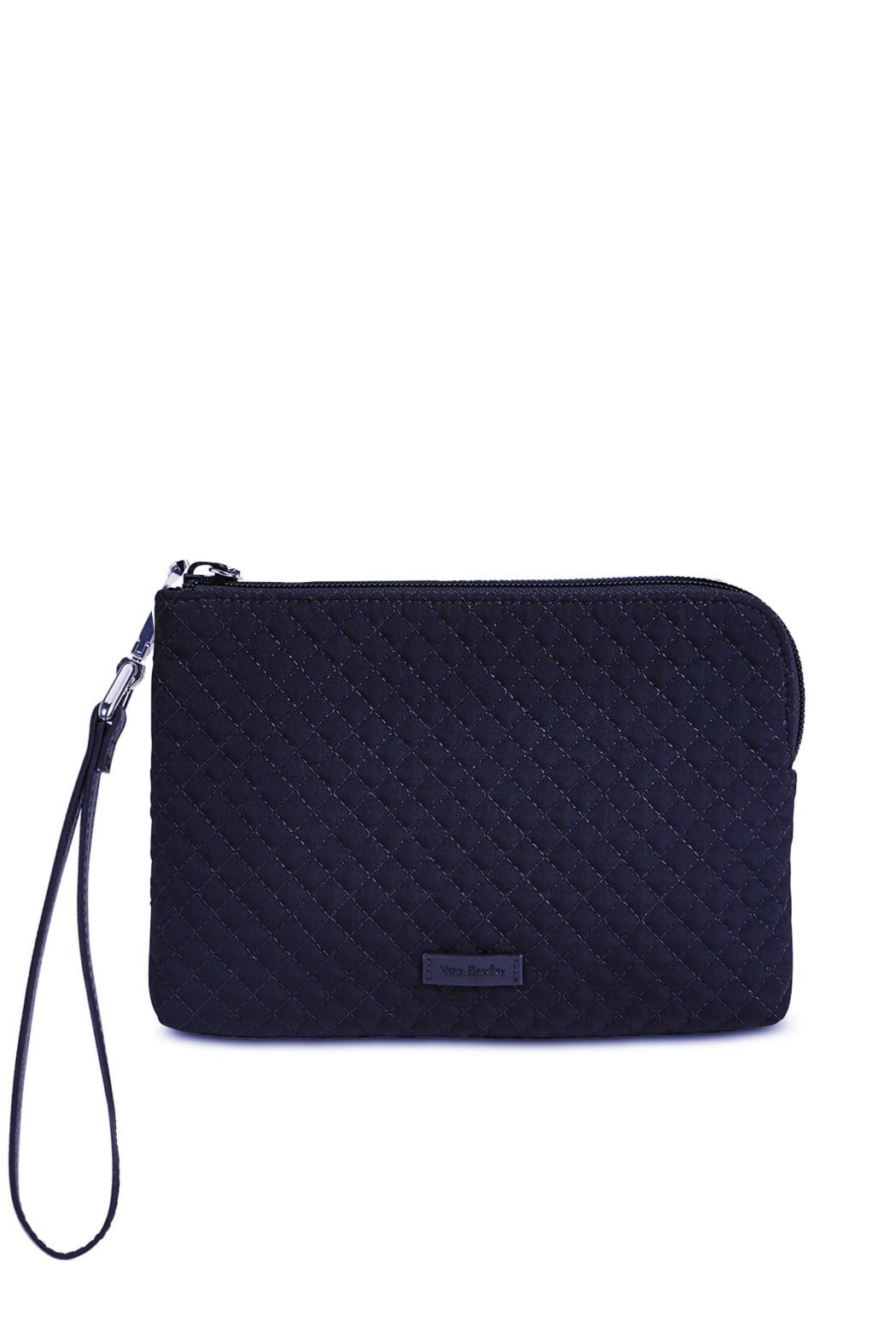 Vera Bradley Navy Velvet Pouch - Front Cropped Image