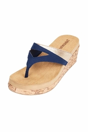 Tidewater Sandals Navy Wedge Sandal - Product Mini Image