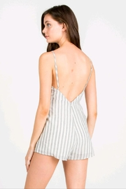 lunik Navy/white Stripe Romper - Front full body