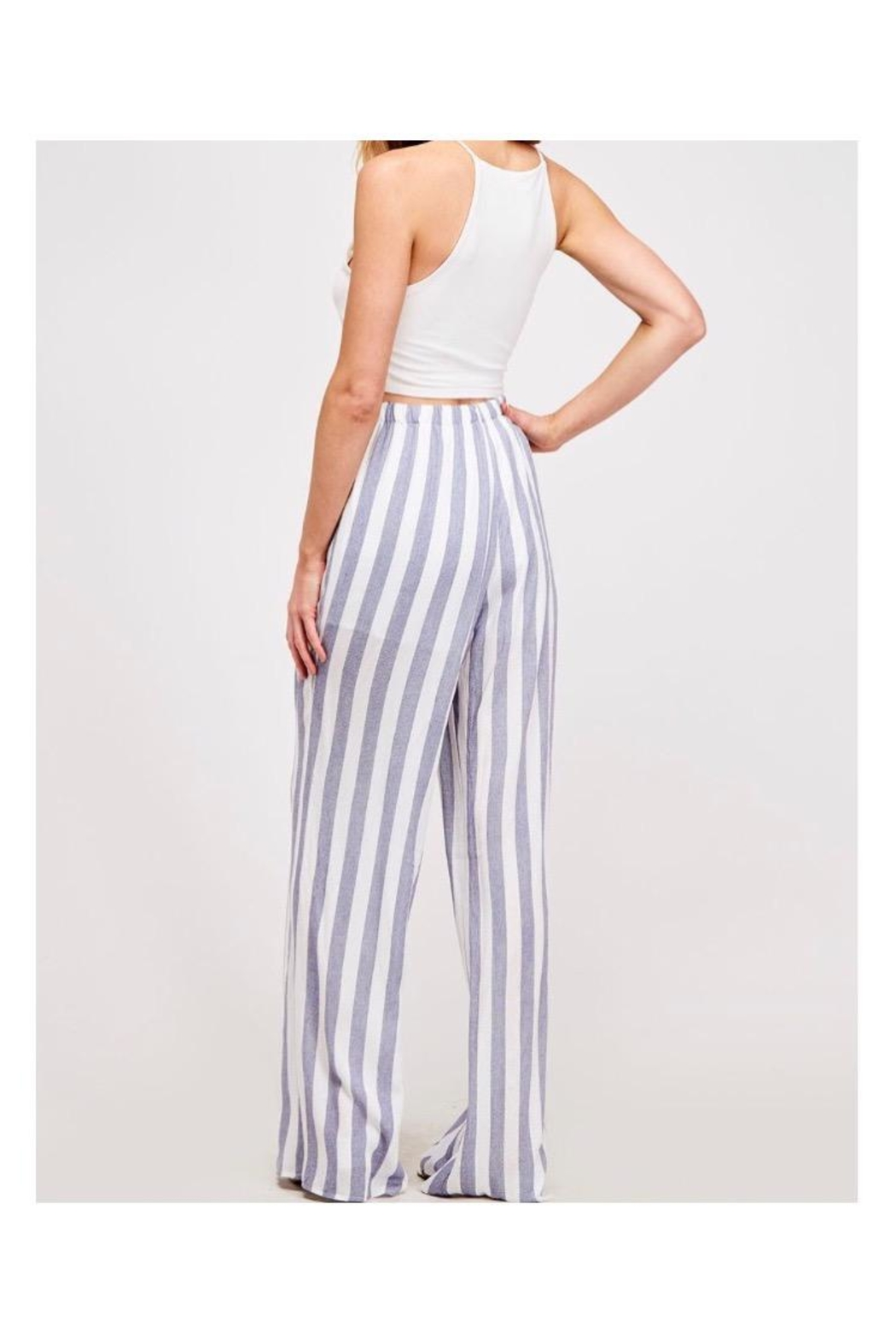 Fantastic Fawn Navy/white Striped Pants - Front Full Image
