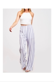 Fantastic Fawn Navy/white Striped Pants - Front cropped