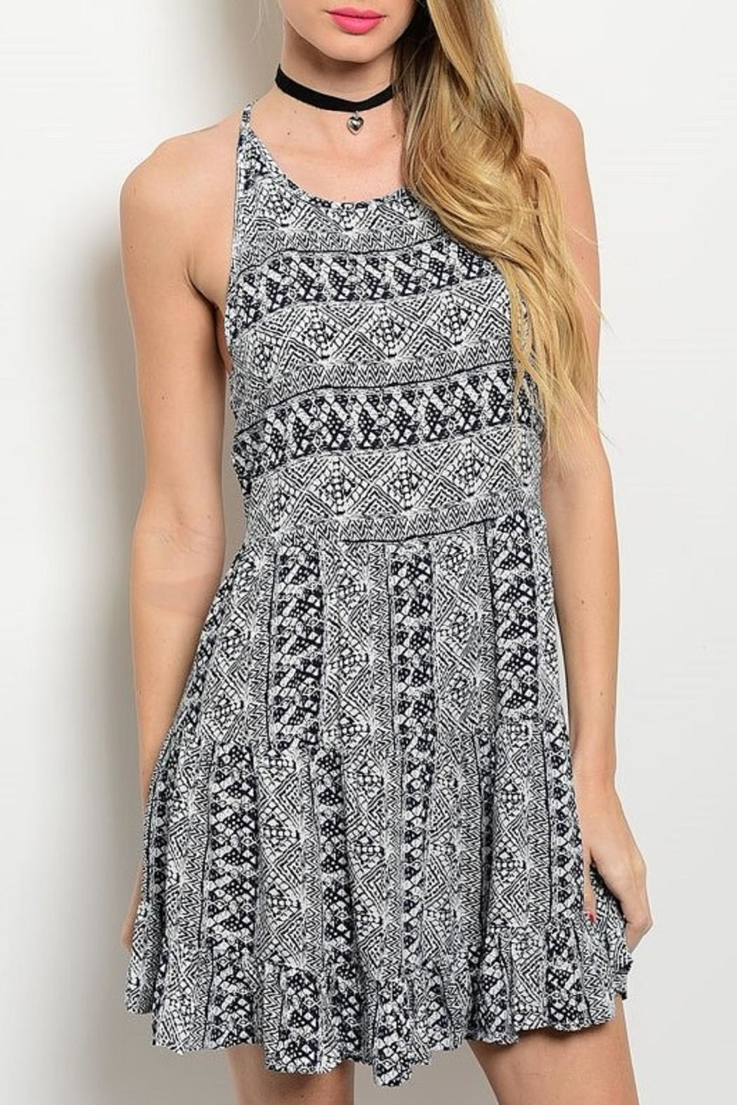 Adore Clothes & More Navy/white Summer Dress - Main Image