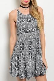 Adore Clothes & More Navy/white Summer Dress - Front cropped