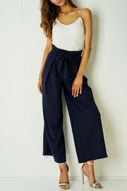 frontrow Navy Wide-Leg Trousers - Product Mini Image