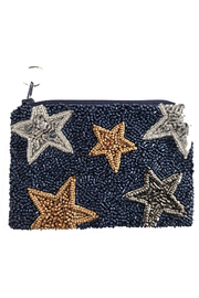 Tiana Navy with Stars Coin Purse - Product Mini Image