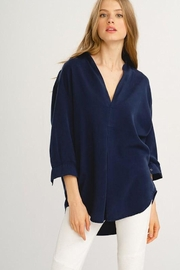 Wishlist Navy Woven Top - Product Mini Image