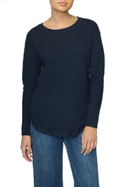 Part Two Navy Zip Sweater - Product Mini Image
