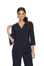 Compli K Navy Zipper front Top - Front cropped