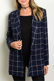 Nazz Collection Navy Jacket - Product Mini Image