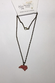 Gleeful Peacock Nc State Necklace - Front cropped