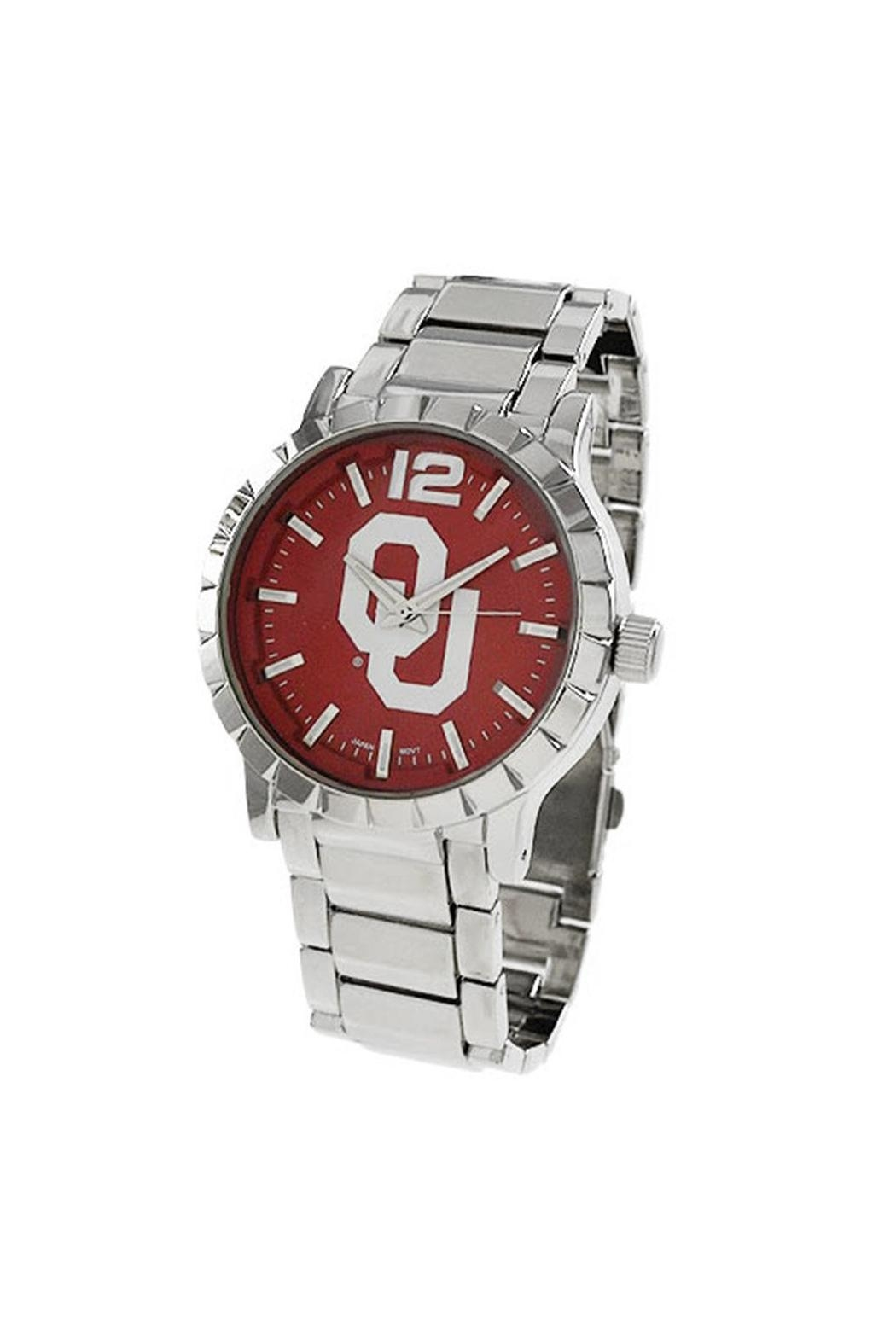 NCAA University-Of-Oklahoma Men's Watch - Front Cropped Image