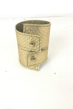 Shoptiques Product: Ndiginus-Gold-Leather-Cuff