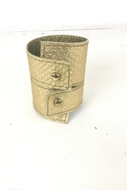 Ndiginus -Gold-Leather-Cuff - Product Mini Image