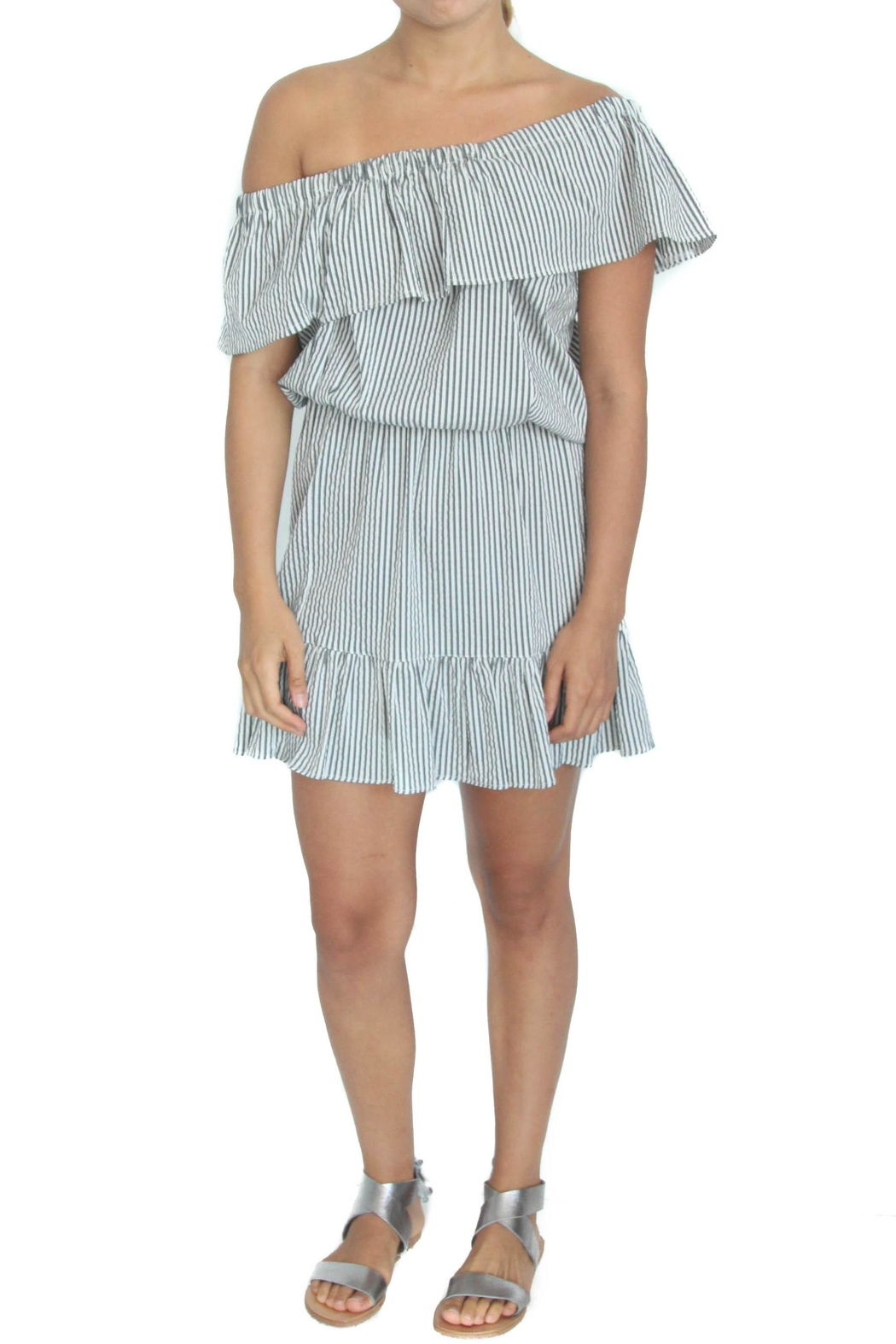 Neat and Tiny Dani Dress - Front Cropped Image