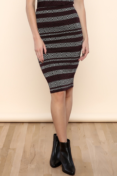 Necessary Objects Stripe Bodycon Skirt - Product List Image