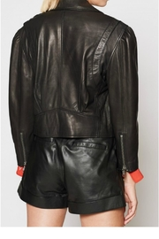 Joie Necia Leather Jacket - Back cropped