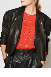 Joie Necia Leather Jacket - Front full body