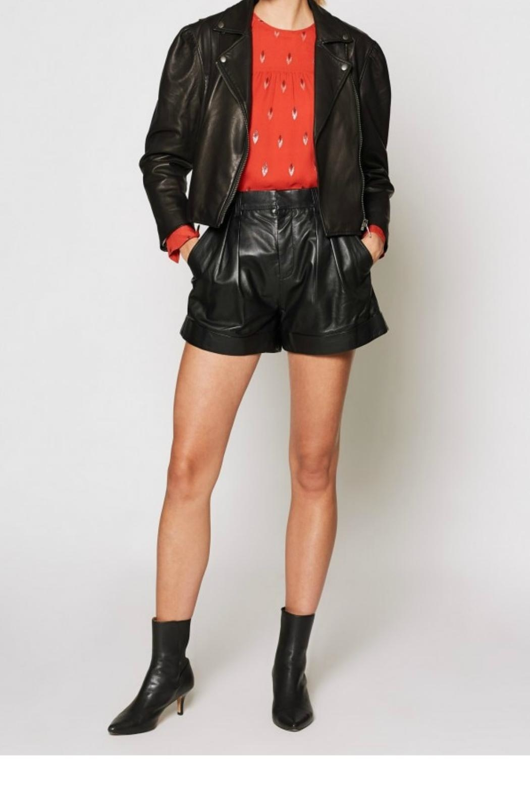 Joie Necia Leather Jacket - Side Cropped Image