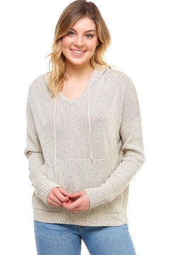 Mustard Seed Neck String Hoodie - Product List Image