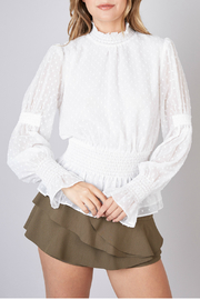Do & Be NECK, WAIST, SLEEVE SMOCKING TOP - Product Mini Image