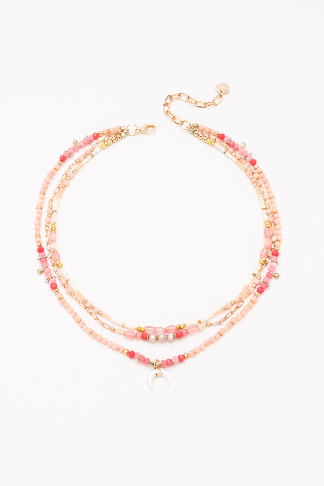 Nakamol  Necklace 3 Layer with Crescent - Main Image