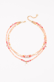 Nakamol  Necklace 3 Layer with Crescent - Front cropped