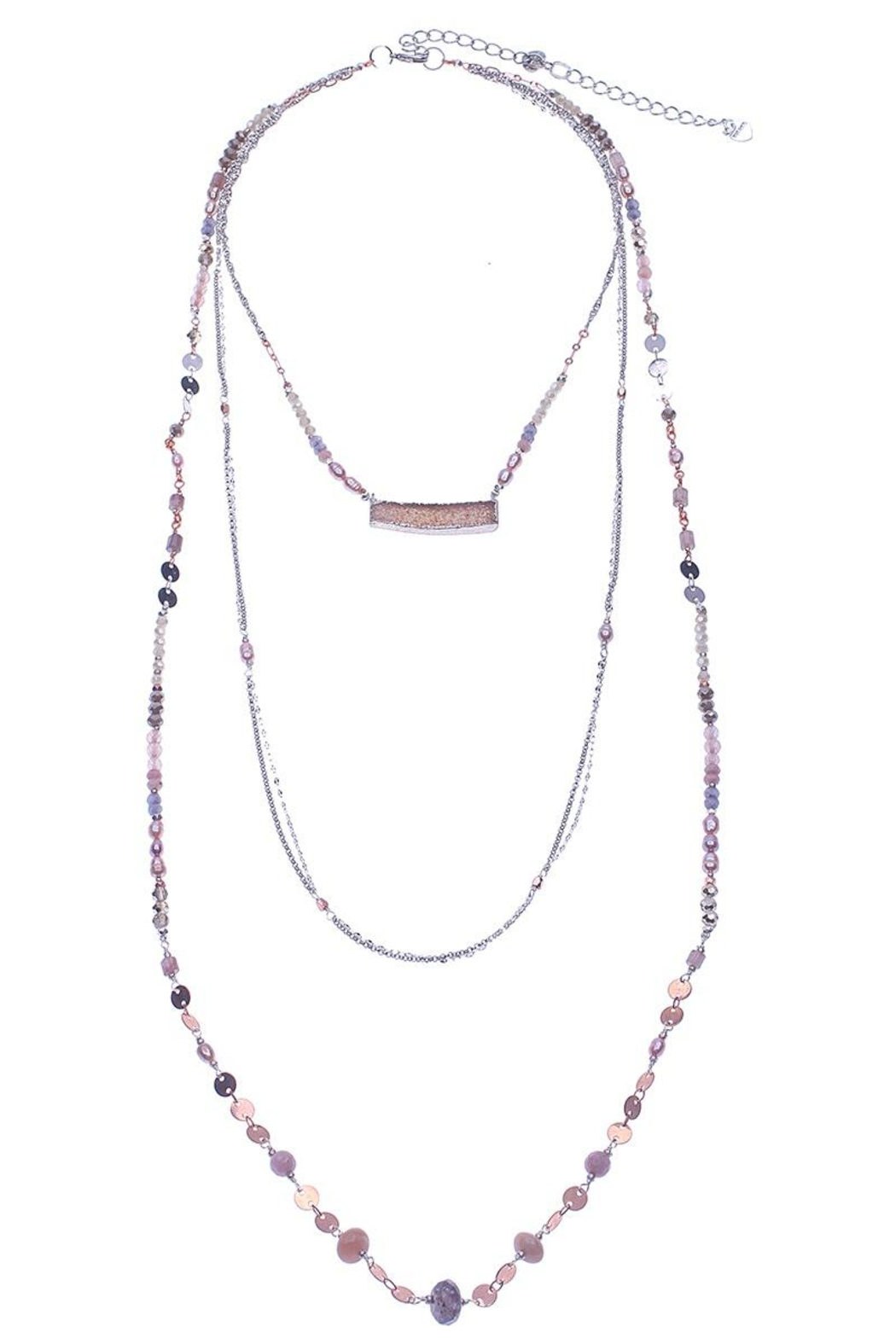 Nakamol Necklace 3 layer With Druzy - Main Image