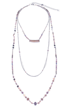 Nakamol Necklace 3 layer With Druzy - Alternate List Image