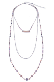 Nakamol Necklace 3 layer With Druzy - Product Mini Image
