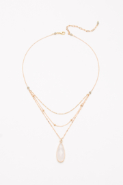 Nakamol Necklace 3 Layer With Stone Drop - Product Mini Image