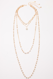 Nakamol Necklace 4 layer Pearl - Product Mini Image