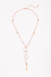 Nakamol Necklace Beaded With  Stone Drop - Product Mini Image