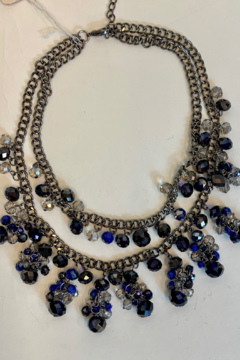 L & B CREATIONS NECKLACE BLACK CRYSTALS - Product List Image