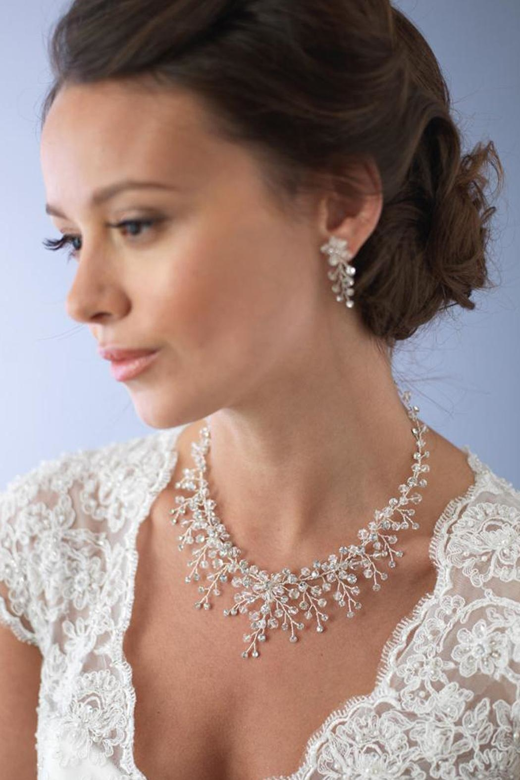 Wild Lilies Jewelry  Necklace & Earrings Set - Front Full Image